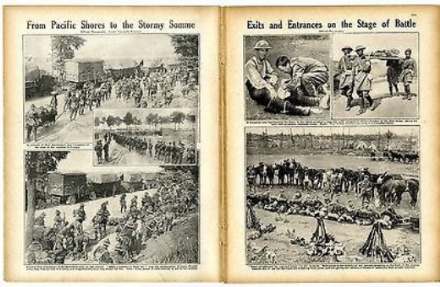 1916 WW1 Magazine ZEPPELIN CRASH ESSEX Basil Clarke SOMME Little Wisborough POTTERS BAR War (3110)